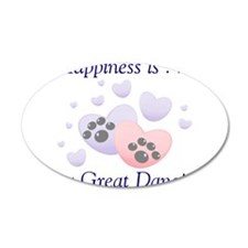 Happiness is...a Great Dane 22x14 Oval Wall Peel
