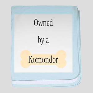 Owned by a Komondor baby blanket
