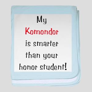 My Komondor is smarter... baby blanket