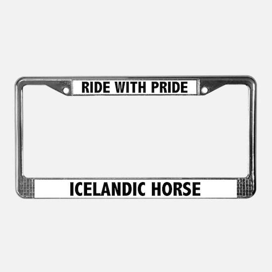 Icelandic Horse License Plate Frame