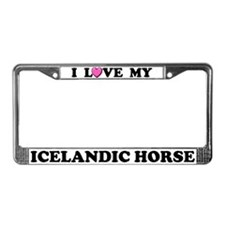 I Love My Icelandic Horse License Plate Frame