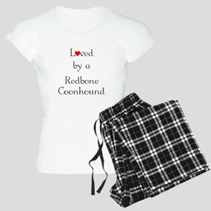 Loved by a Redbone Coonhound Women's Light Pajamas