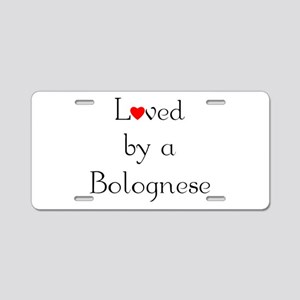 Loved by a Bolognese Aluminum License Plate