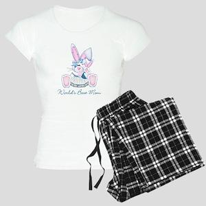 World's Best Mom (bunny) Women's Light Pajamas