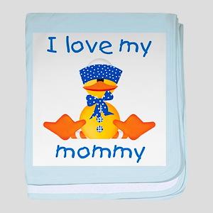I love my mommy (boy ducky) baby blanket