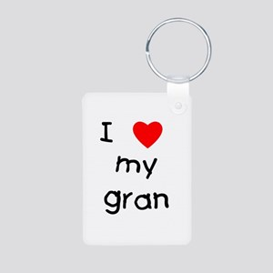 I love my gran Aluminum Photo Keychain