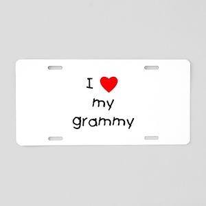 I love my grammy Aluminum License Plate