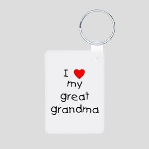 I Love My Great Grandma Aluminum Photo Keychains