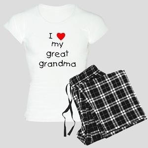 I love my great grandma Women's Light Pajamas