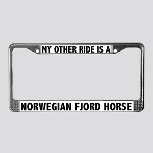 Norwegian Fjord Horse License Plate Frame