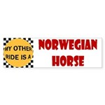 My Other Ride Norwegian Fjord Horse Sticker (Bumpe