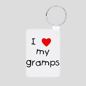 I love my gramps Aluminum Photo Keychain