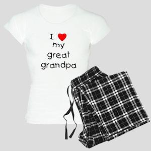 I love my great grandpa Women's Light Pajamas