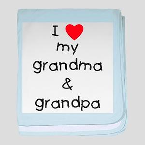 I love my grandma & grandpa baby blanket