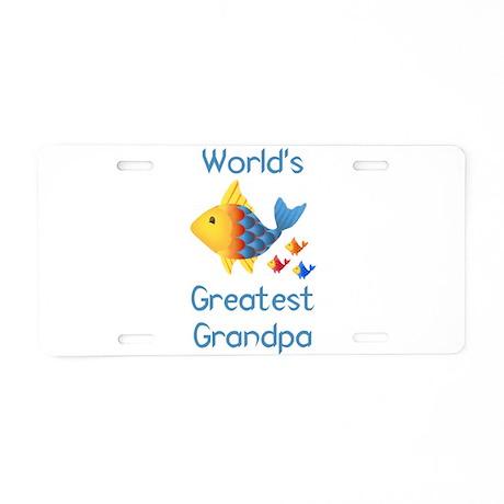 World's Greatest Grandp Aluminum License Plate