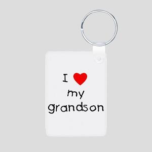 I love my grandson Aluminum Photo Keychain