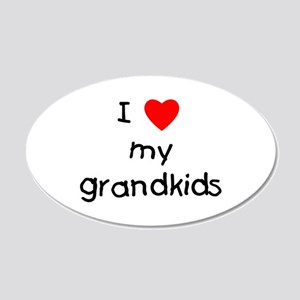 I love my grandkids 22x14 Oval Wall Peel