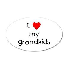 I love my grandkids 22x14 Oval Wall Peel