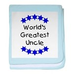 World's Greatest Uncle baby blanket