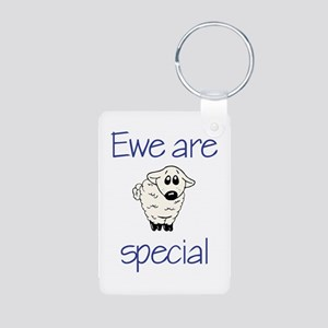 Ewe are special Aluminum Photo Keychain
