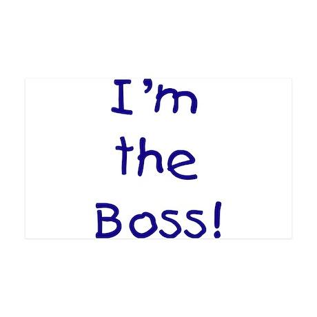 I'm the Boss! (blue) 38.5 x 24.5 Wall Peel