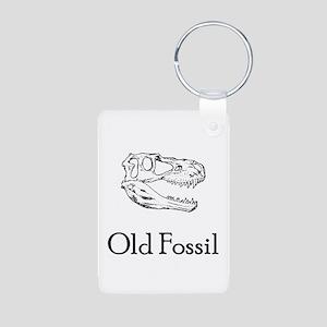 Old Fossil Aluminum Photo Keychain