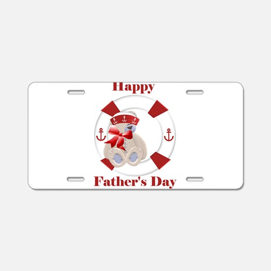 Happy Father's Day (bear) Aluminum License Plate