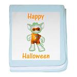 Happy Halloween Ghost Kitten baby blanket