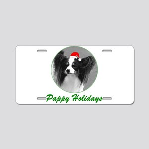 Pappy Holidays (b/w santa hat Aluminum License Pla