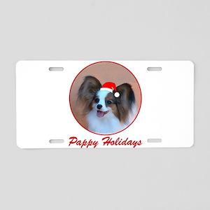Pappy Holidays (sable santa h Aluminum License Pla
