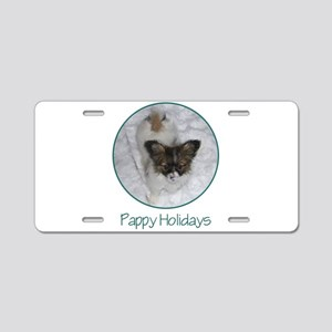Pappy Holidays (puppy) Aluminum License Plate