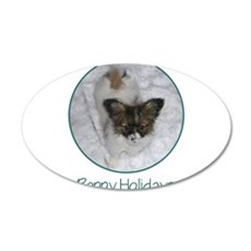 Pappy Holidays (puppy) 22x14 Oval Wall Peel