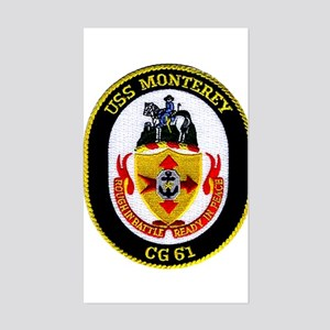 USS Monterey CG 61 Rectangle Sticker