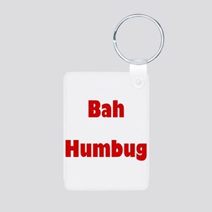 Bah Humbug (red) Aluminum Photo Keychain