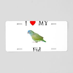 I love my Fid (feathered kid) Aluminum License Pla
