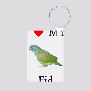 I love my Fid (feathered kid) Aluminum Photo Keych