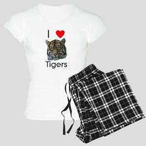 I Love Tigers Women's Light Pajamas