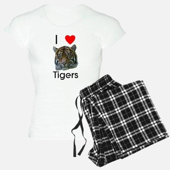 I Love Tigers Pajamas
