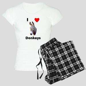 I love donkeys Women's Light Pajamas