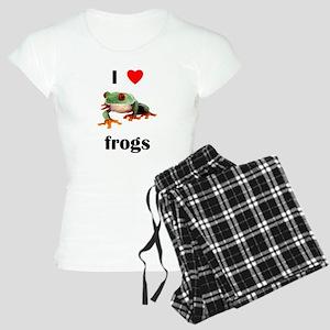 I love frogs Women's Light Pajamas