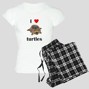 I love turtles Women's Light Pajamas