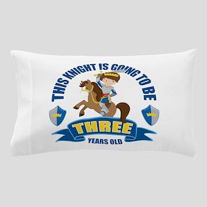 3rd Birthday Knight Pillow Case