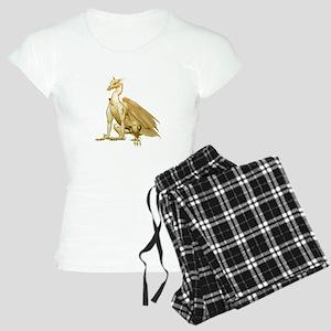 Gold Sitting Dragon Women's Light Pajamas