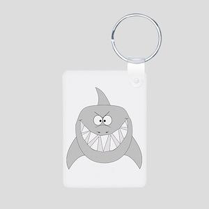 Cartoon Shark Aluminum Photo Keychain