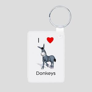 I love donkeys Aluminum Photo Keychain