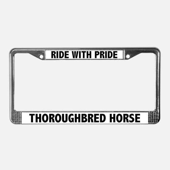 Pride Thoroughbred Horse License Plate Frame