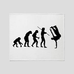Breakdance evolution Throw Blanket