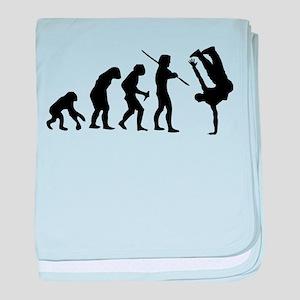Breakdance evolution baby blanket