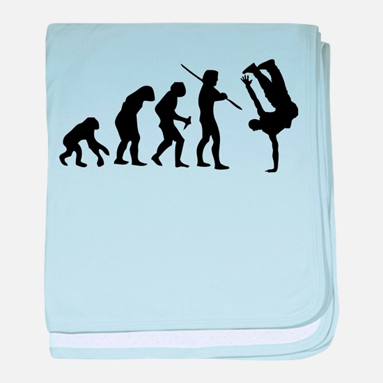 Breakdance evolution baby blanket