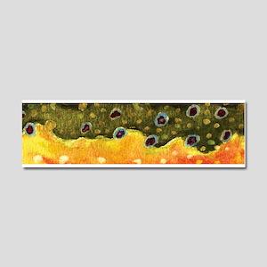 Brook Trout Skin Car Magnet 10 x 3